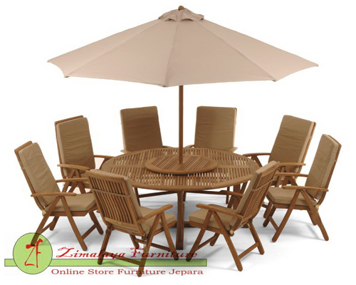 Set Meja Payung Bundar