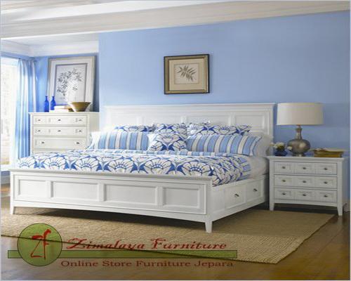 Set Tempat Tidur Minimalis Kayu