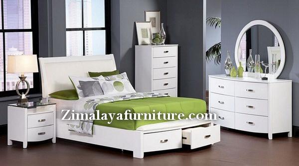 Set Tempat Tidur Minimalis Putih