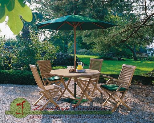 Meja Payung Taman 4 Kursi