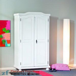 Lemari Anak 2 Pintu Putih