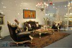 Sofa Tamu Ukir Warna Emas