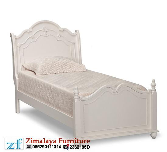 Tempat Tidur Anak Putih Elegan