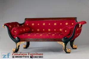 Sofa Ukir Merah