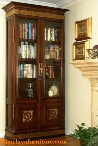 Lemari Buku Jati 2 Pintu