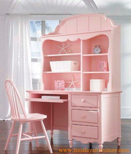Meja Belajar Warna Pink