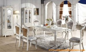 Set Kursi Makan Putih Mewah