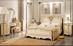 Set Tempat Tidur Putih Elegan
