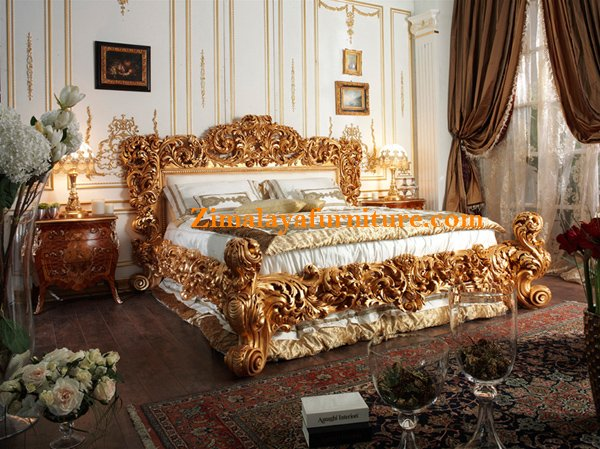 Tempat Tidur Ukir Relief