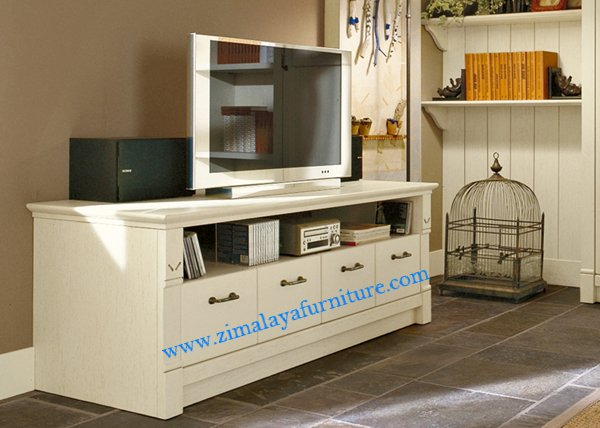 Buffet TV Putih Elegan