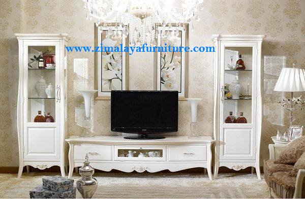 Buffet TV Warna Putih