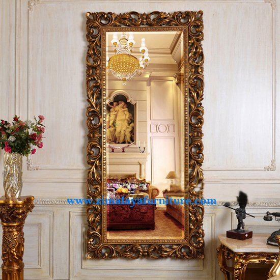 Mirror Ukir Emas Mewah