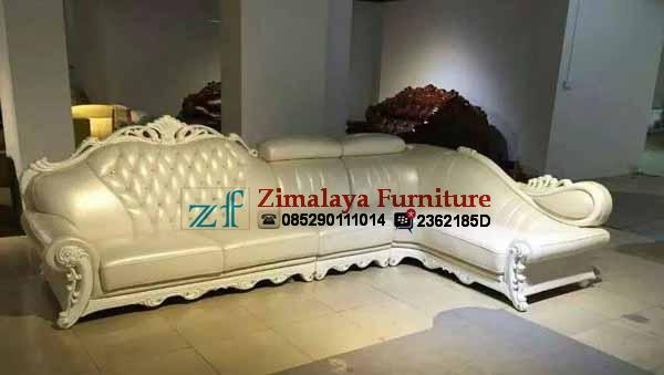 Sofa Tamu Sudut Warna Putih