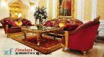 Kursi Tamu Emas Merah Mewah