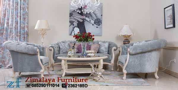 Sofa Tamu Putih Elegan