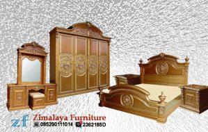 Set Tempat Tidur Kayu Jati