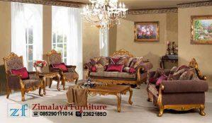 Sofa Tamu Kayu Warna Emas