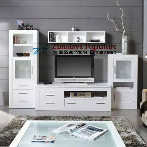 Bufet TV Minimalis Warna Putih