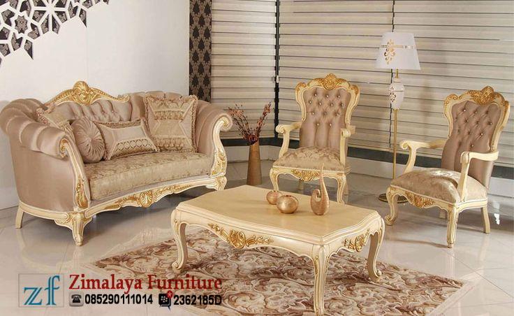 Sofa Tamu Mewah Ukir Jati