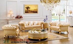 Sofa Tamu Mewah Emas
