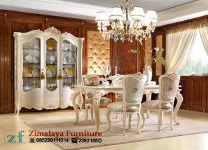 Set Kursi Makan Mewah Putih duco