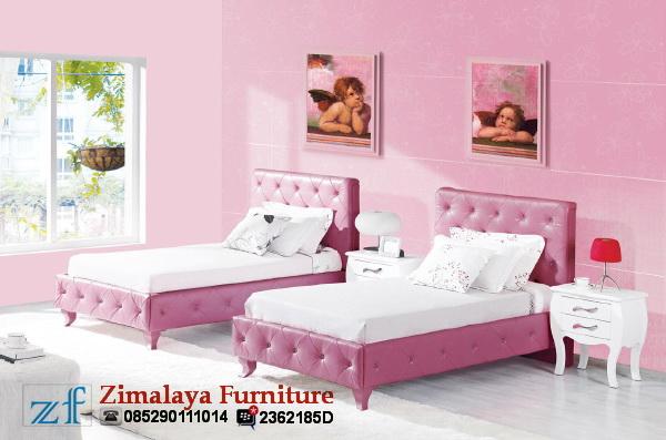 Tempat Tidur Cantik Warna Pink