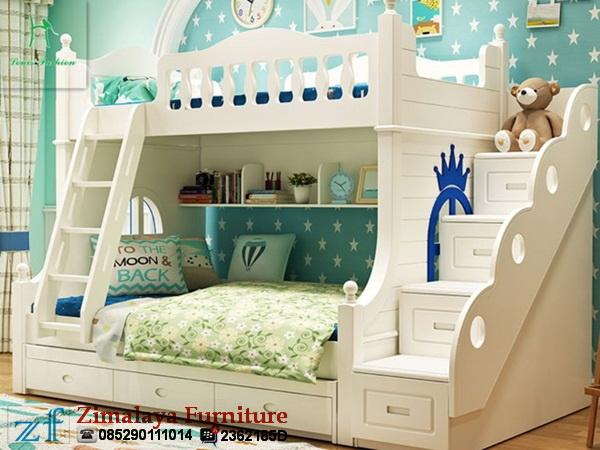 Tempat Tidur Susun Warna Putih