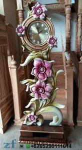 Jam Hias Bunga Ruang Tamu