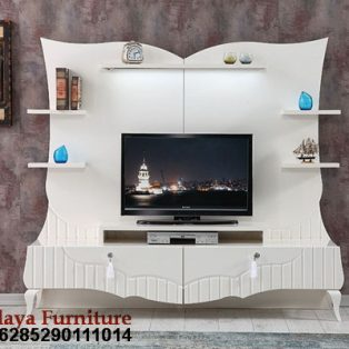 Bufet TV Modern Warna Putih