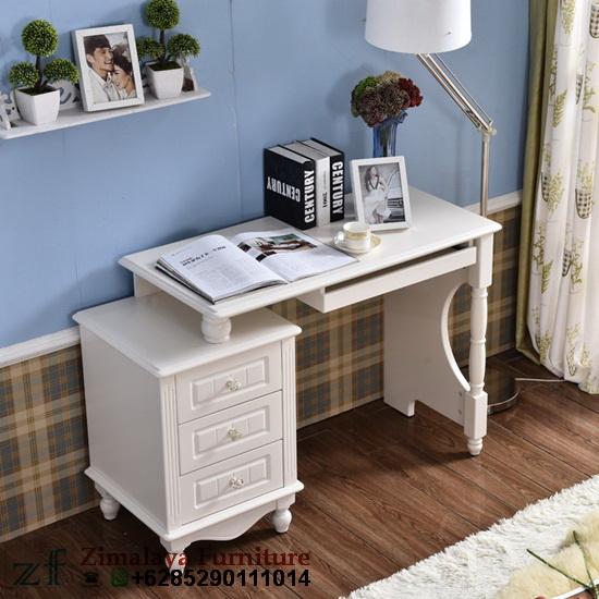 Meja Komputer Warna Putih