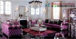 Sofa Tamu Warna Ungu Silver