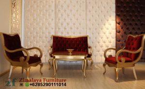 Sofa Tamu Model Elegan Emas