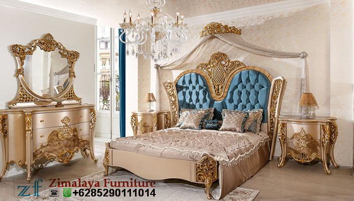 Tempat Tidur Mewah Warna Emas