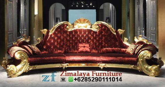 Sofa Mewah Warna Emas