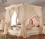 Tempat Tidur Ukir Model Kanopi