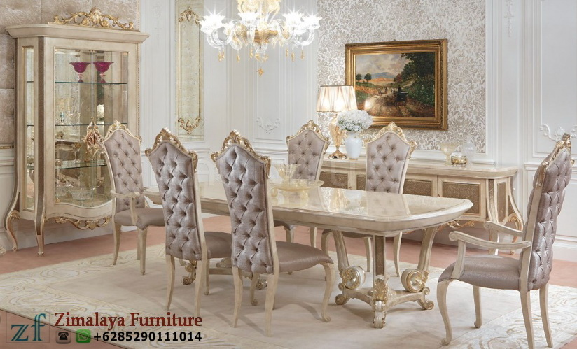 Set Kursi Makan Ukir Luxury