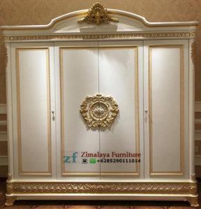 Lemari Pakaian 4 Pintu Klasik Mewah