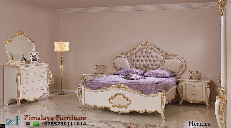 Tempat Tidur Ukir Emas Klasik