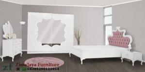 Set Tempat Tidur Warna Putih Elegan